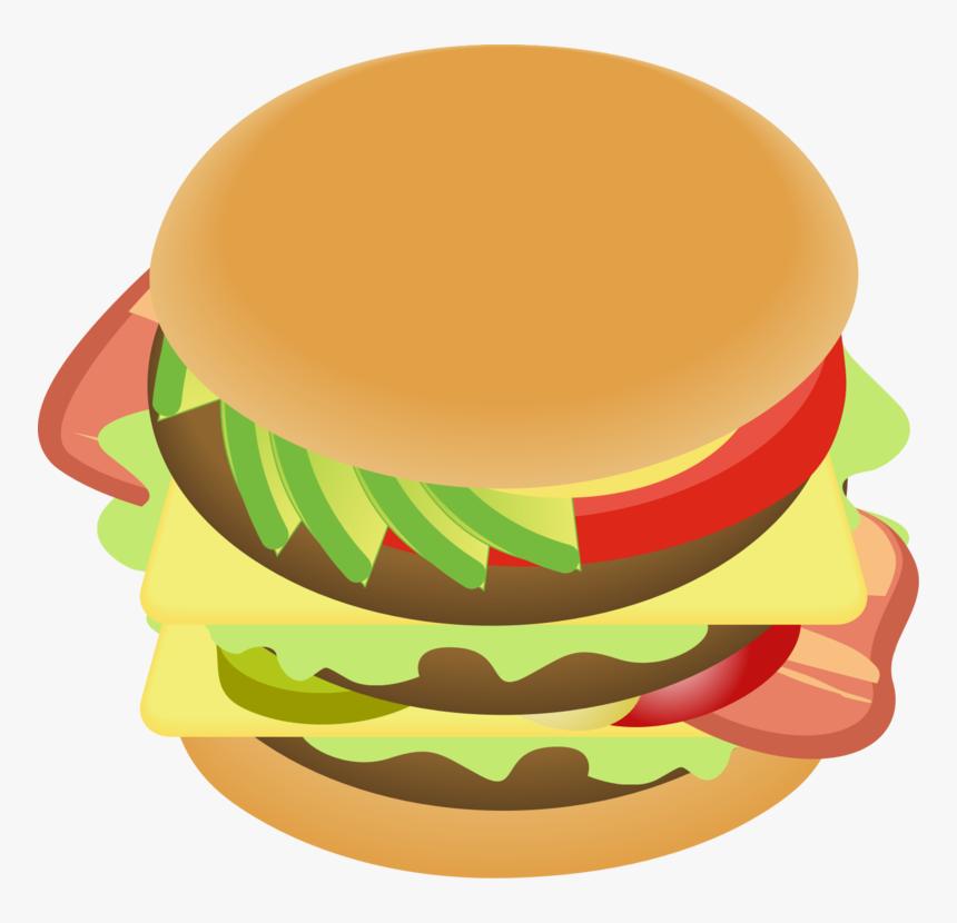 Transparent Cheeseburger Png - Hamburger, Png Download, Free Download