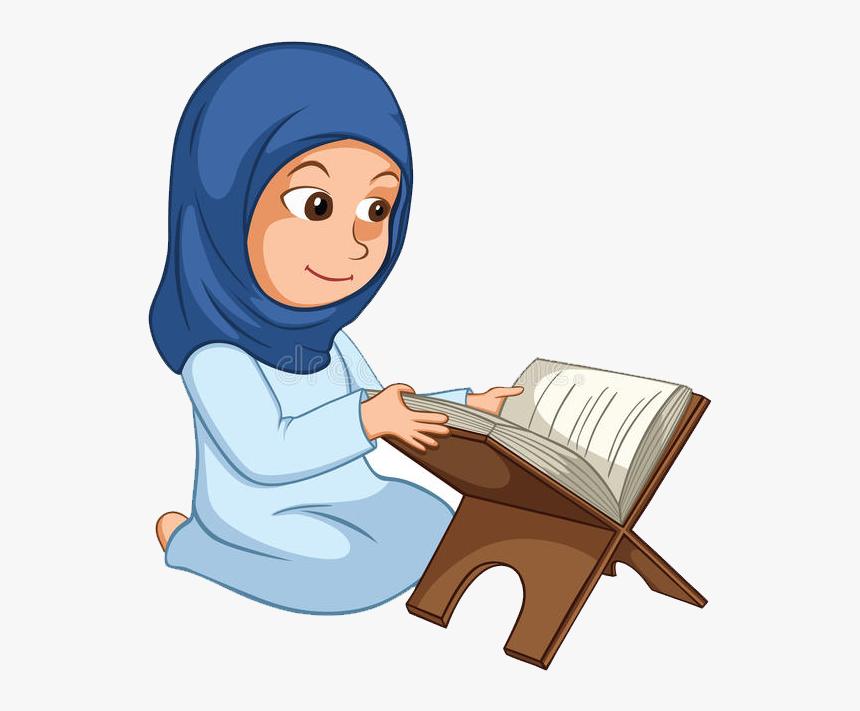 "Qur""an Islamic Holy Books Muslim Clip Art - Recite Quran Clipart, HD Png Download, Free Download"