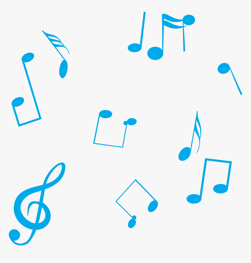 Blue Musical Note - Blue Music Note Transparent Background, HD Png Download, Free Download