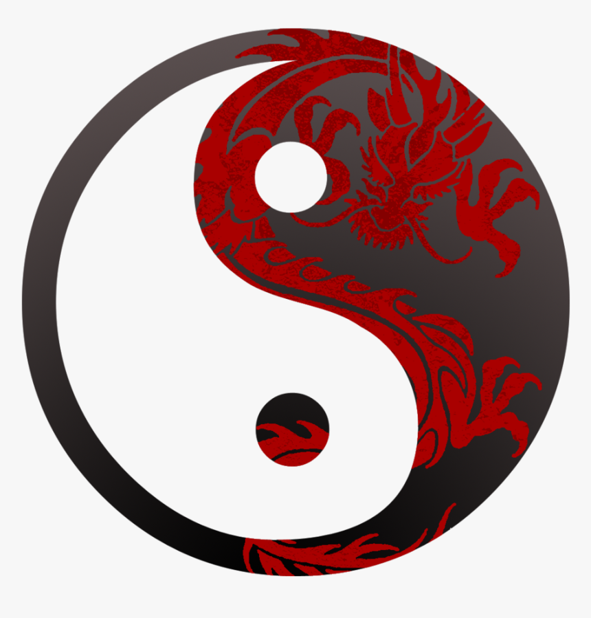 Dragon Yin Yang Symbol Images & Pictures - Yin Yang With Dragon, HD Png Download, Free Download