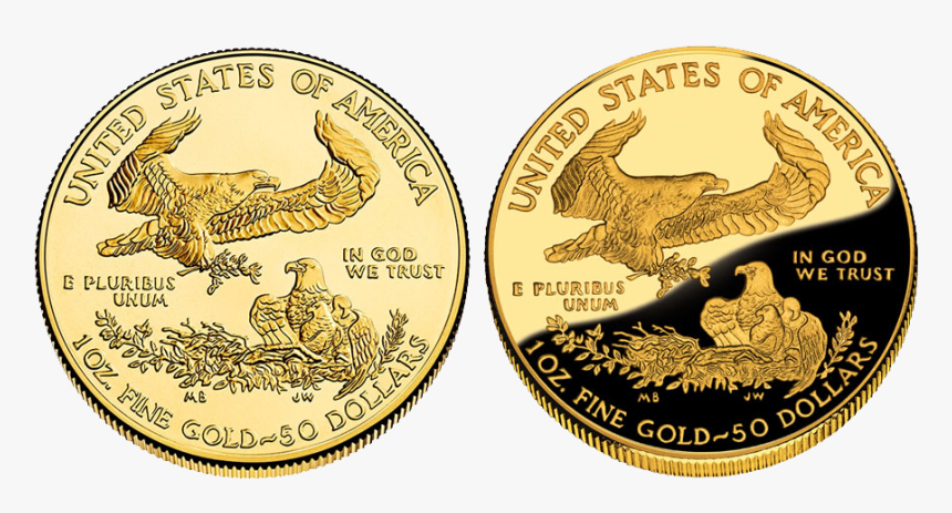 Standard American Eagle Coin Vs Proof - Coin, HD Png Download, Free Download