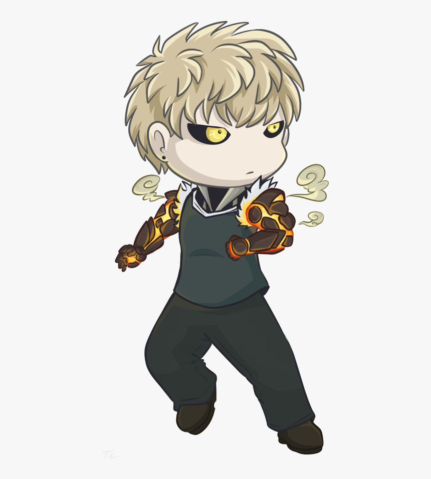 Genos Chibi - Cyborg Anime One Punch Man, HD Png Download, Free Download