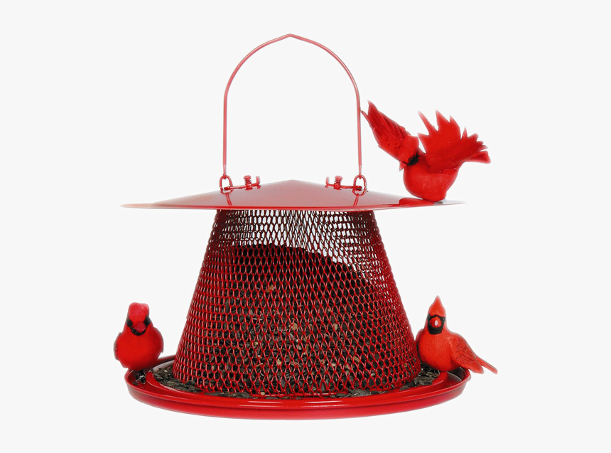 No/no Cardinal Red Bird Feeder, Metal, - Best Feeder For Cardinals And Bluejays, HD Png Download, Free Download