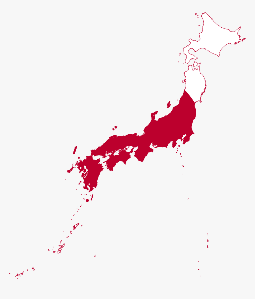 Japan Map Png - North Japan And South Japan, Transparent Png, Free Download