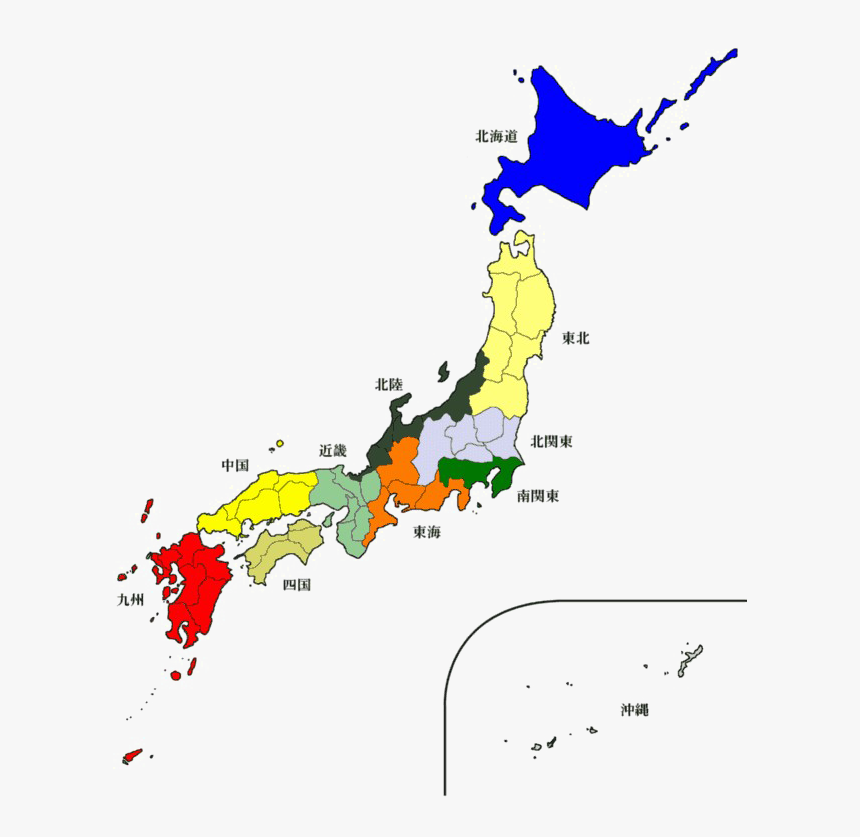 Japan Map Free Download Png Hd - Post Wwii Japan Map, Transparent Png, Free Download