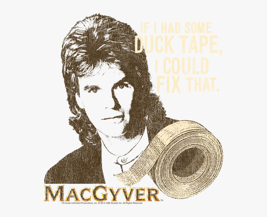 "Macgyver Duct Tape Kid""s T Shirt "" Class= - Macgyver Duct Tape, HD Png  Download - kindpng"