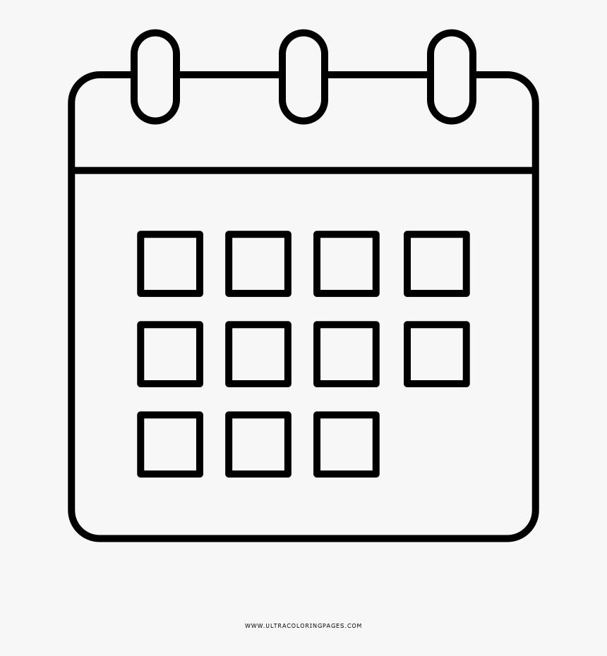 Monthly Calendar Coloring Page Desenho De Calendario Png