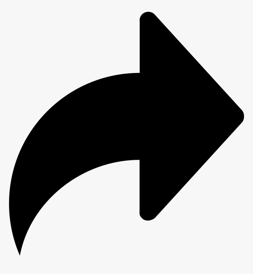 Right Arrow Symbol - Arrow Share Icon Png, Transparent Png, Free Download