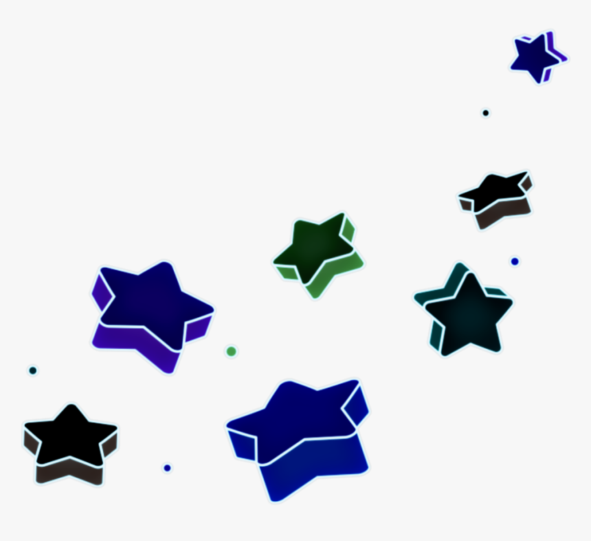 #stars #star #blue #green #3d #falling #shooting #shooting, HD Png Download, Free Download