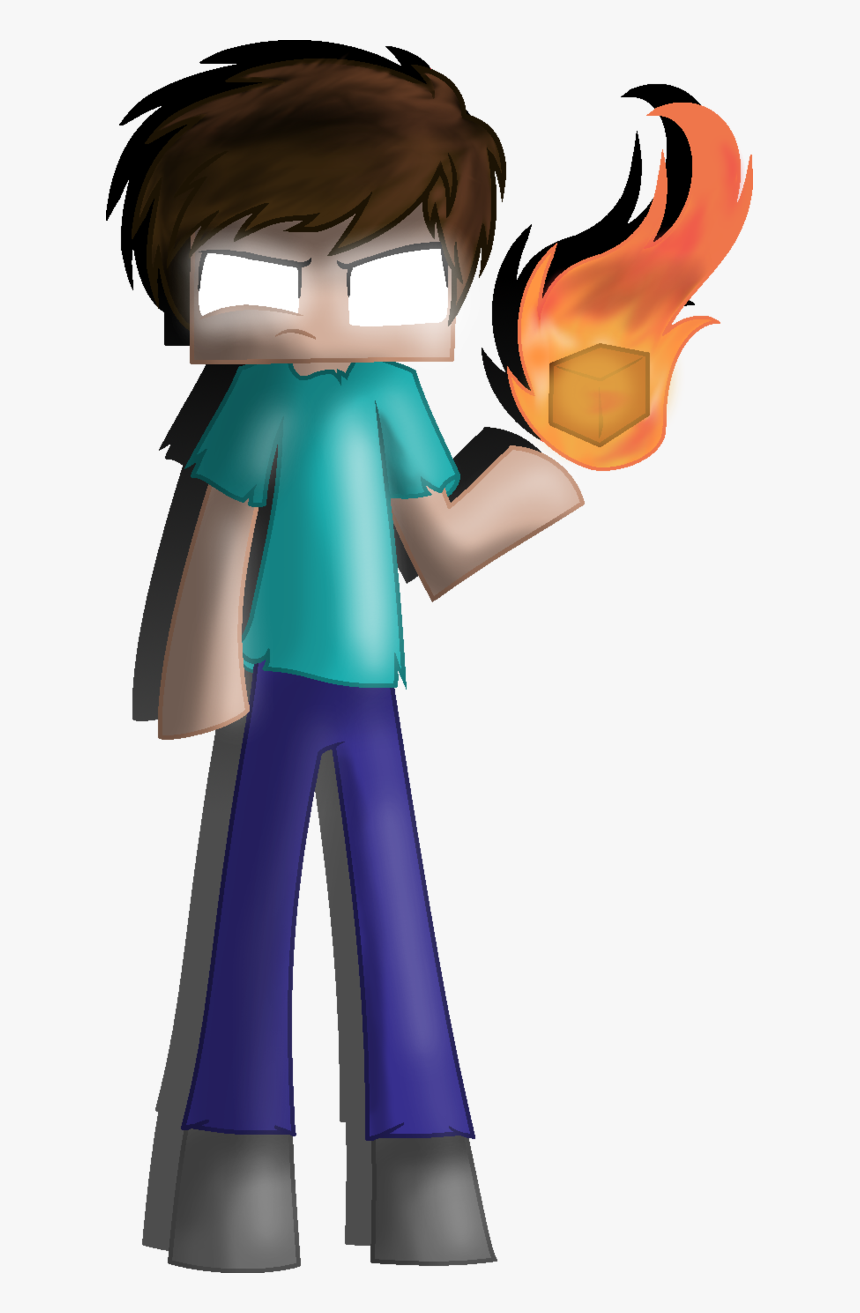 Drawing Minecraft Creepy Huge Freebie Download For - Easy Minecraft Herobrine Drawings, HD Png Download, Free Download