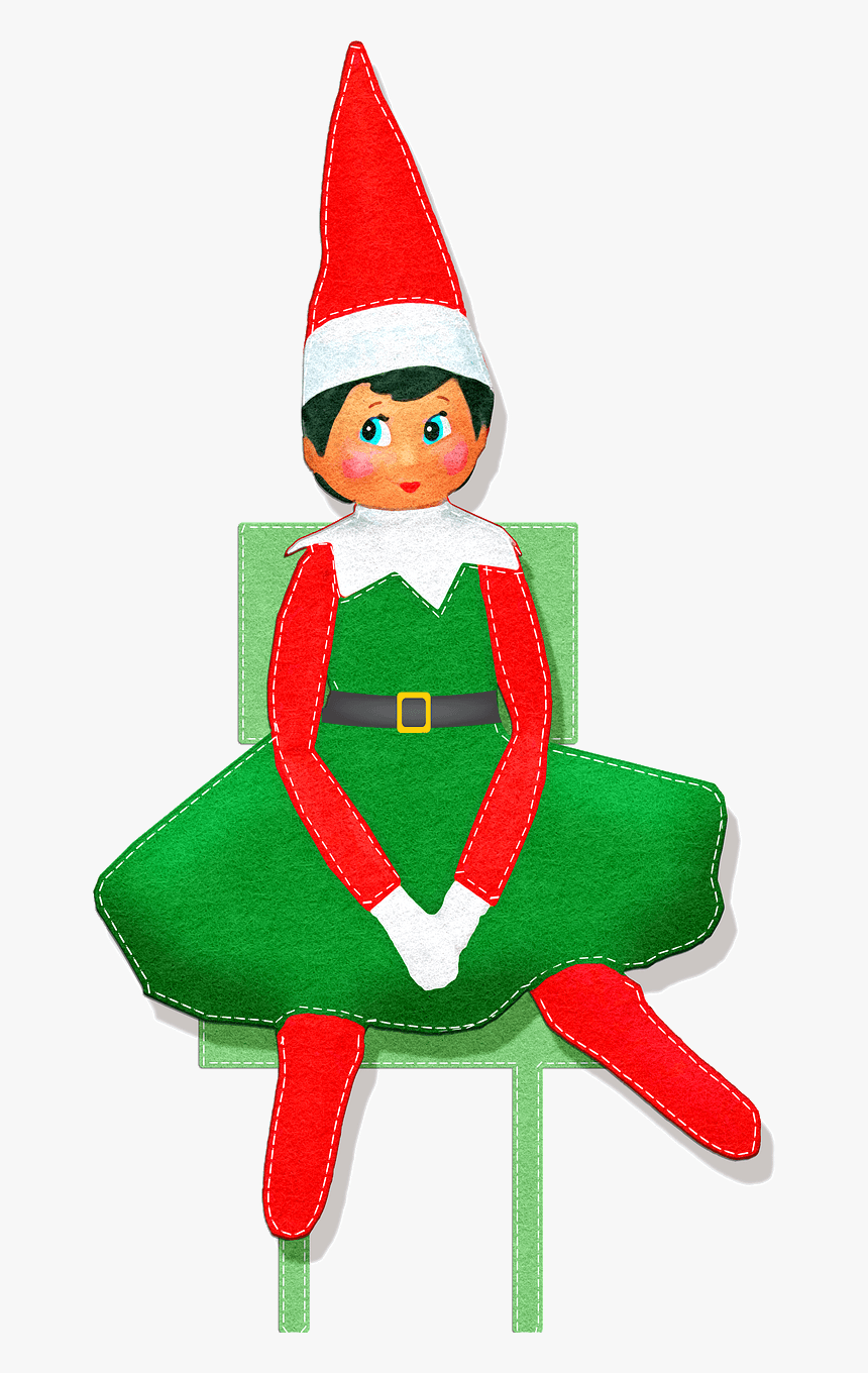 Christmas Elf On The Shelf Clipart, HD Png Download, Free Download