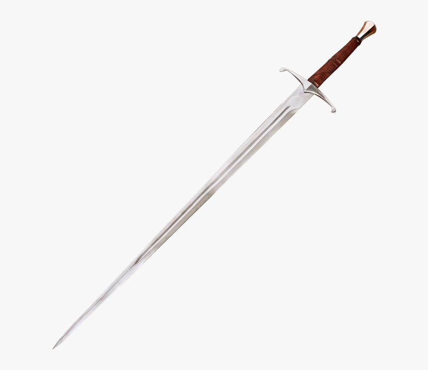Two Handed Danish Sword With Scabbard - Long Sword, HD Png Download, Free Download
