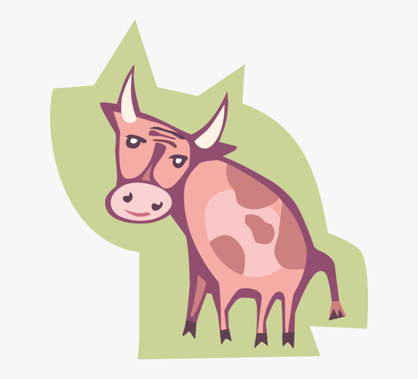 Vector Illustration Of Farm Agriculture Livestock Cattle - Cartoon, HD Png Download, Free Download
