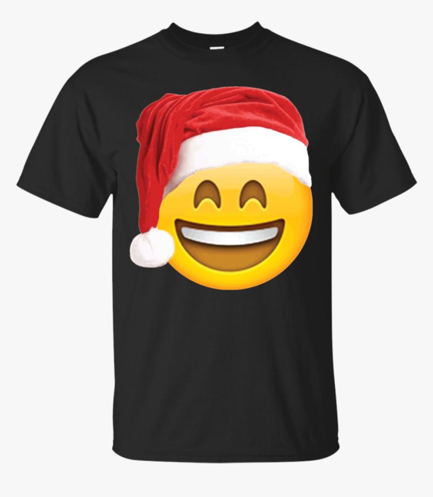 Emoji Christmas Shirt Smiley Face Santa Hat Family - Pablo Escobar Wanted Shirt, HD Png Download, Free Download