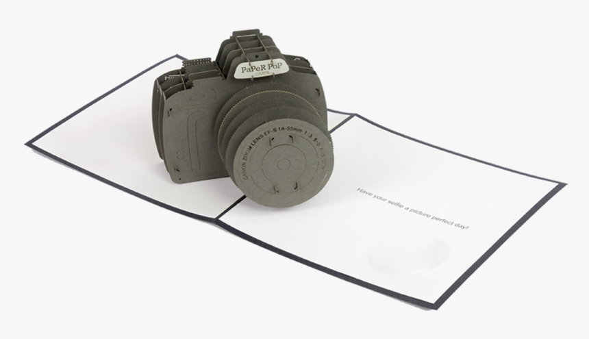 Camera Pop Up Card Template, HD Png Download, Free Download