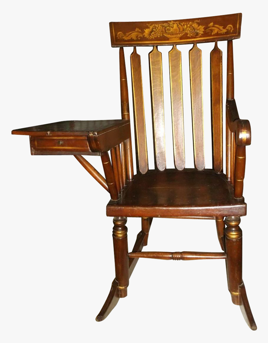 Rocking Chair With Desk, HD Png Download, Free Download