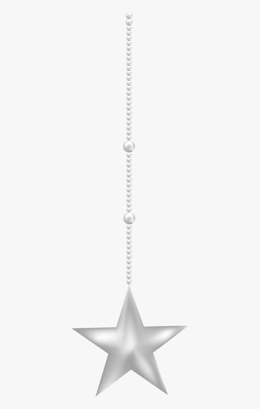 Silver Hanging Star Png, Transparent Png, Free Download