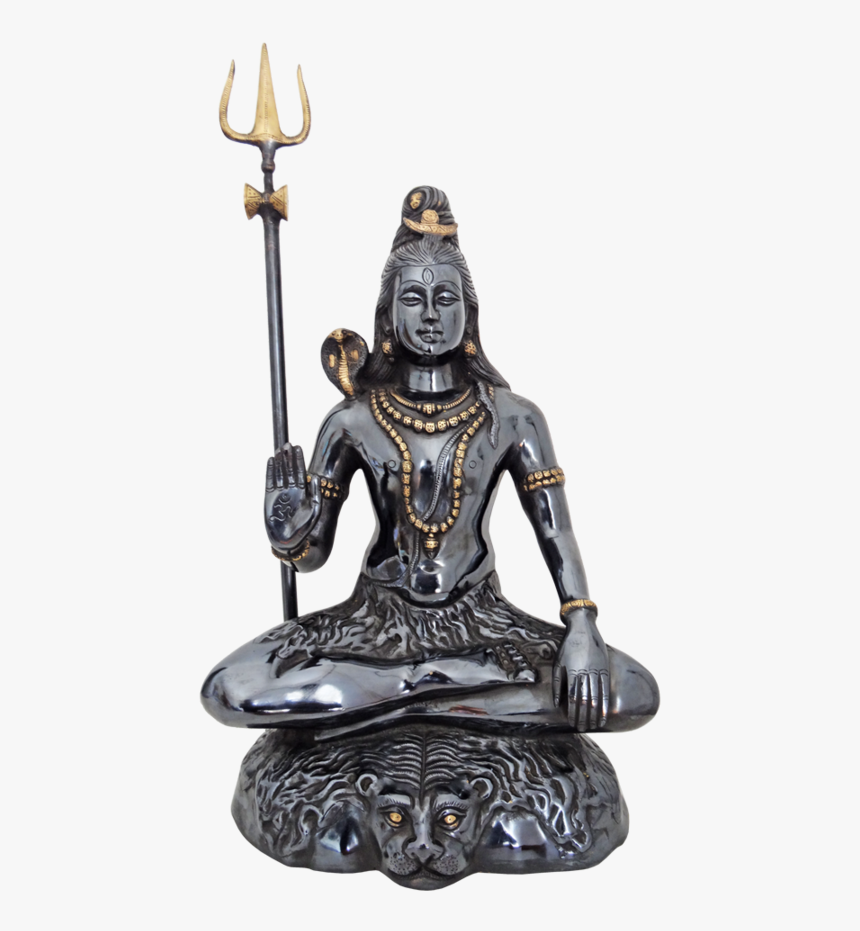 Religious Brass Black Coated Lord Shiva Statue , 9 - Statue, HD Png Download, Free Download