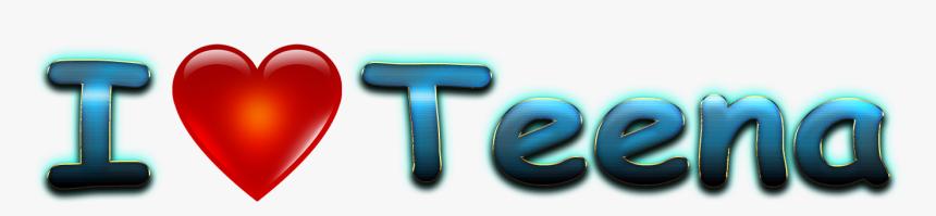Teena Love Name Heart Design Png - Heart, Transparent Png, Free Download