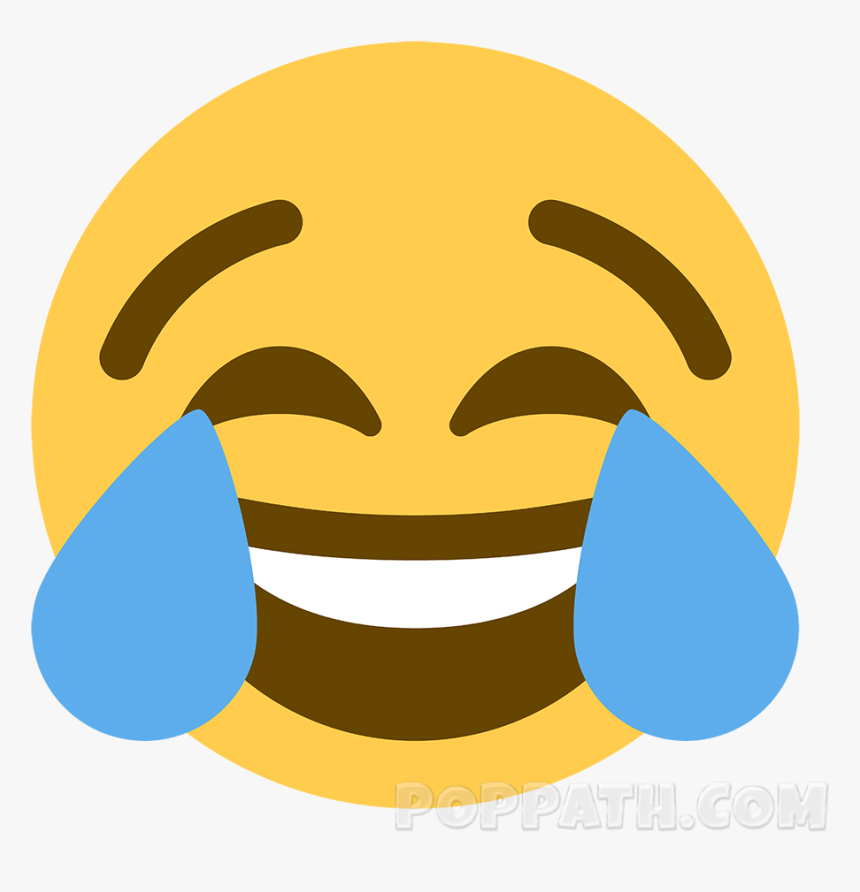 How To Draw A Tears Of Joy Emoji Pop Path - Joy Emoji Png, Transparent Png, Free Download