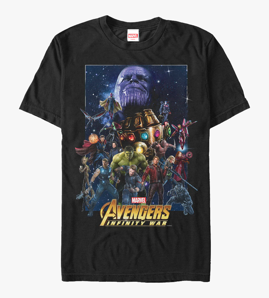 Cast Avengers Infinity War T-shirt - Tee Shirt Avengers Infinity War, HD Png Download, Free Download