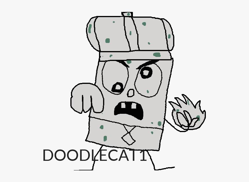 Doodlebob Drawing Erases - Cartoon, HD Png Download, Free Download