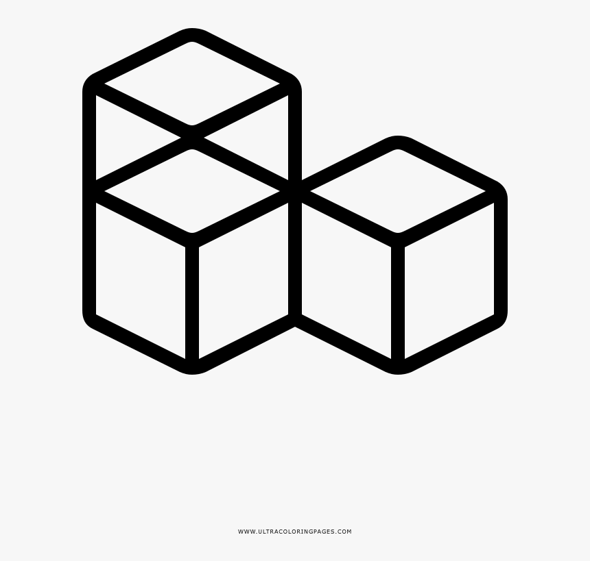 Ice Cubes Coloring Page - Cubes Icon Png, Transparent Png, Free Download