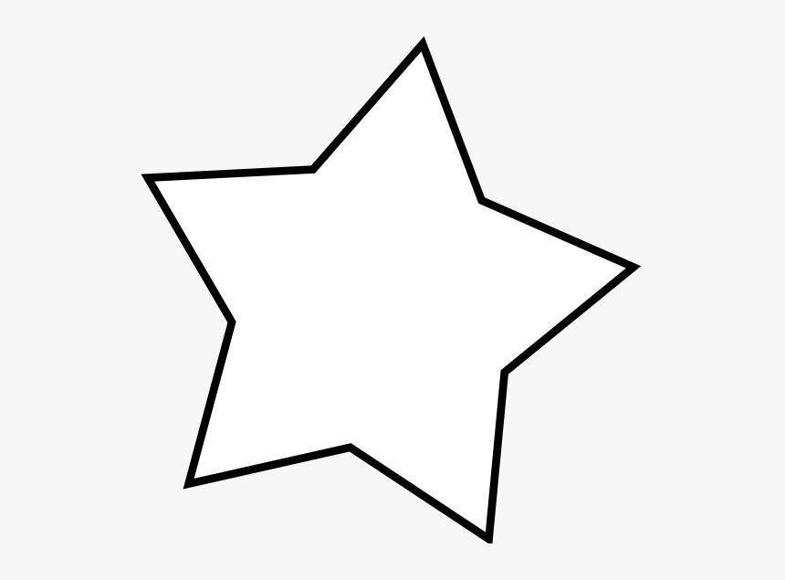 Star Line Clipart - Transparent Background Clipart White Star, HD Png Download, Free Download