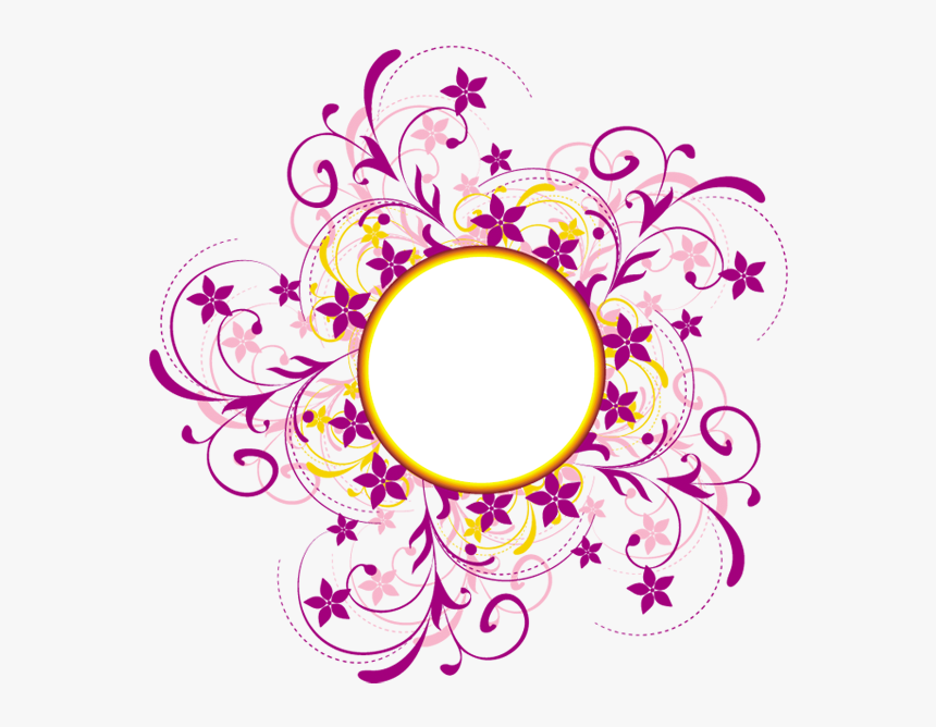 Colorful Floral Designs Png , Png Download - Swirl And Circle Designs Png, Transparent Png, Free Download