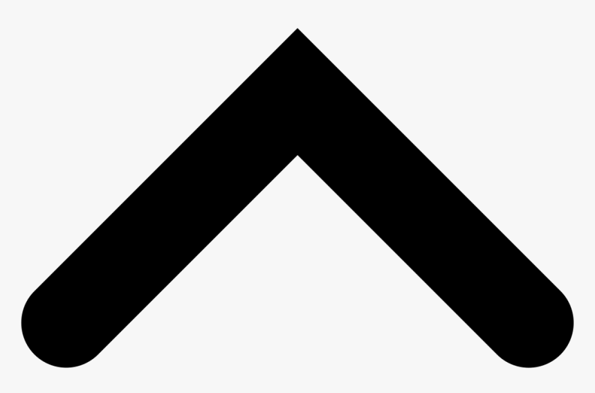 Angled Arrow Up Png - Caret Symbol Png, Transparent Png, Free Download