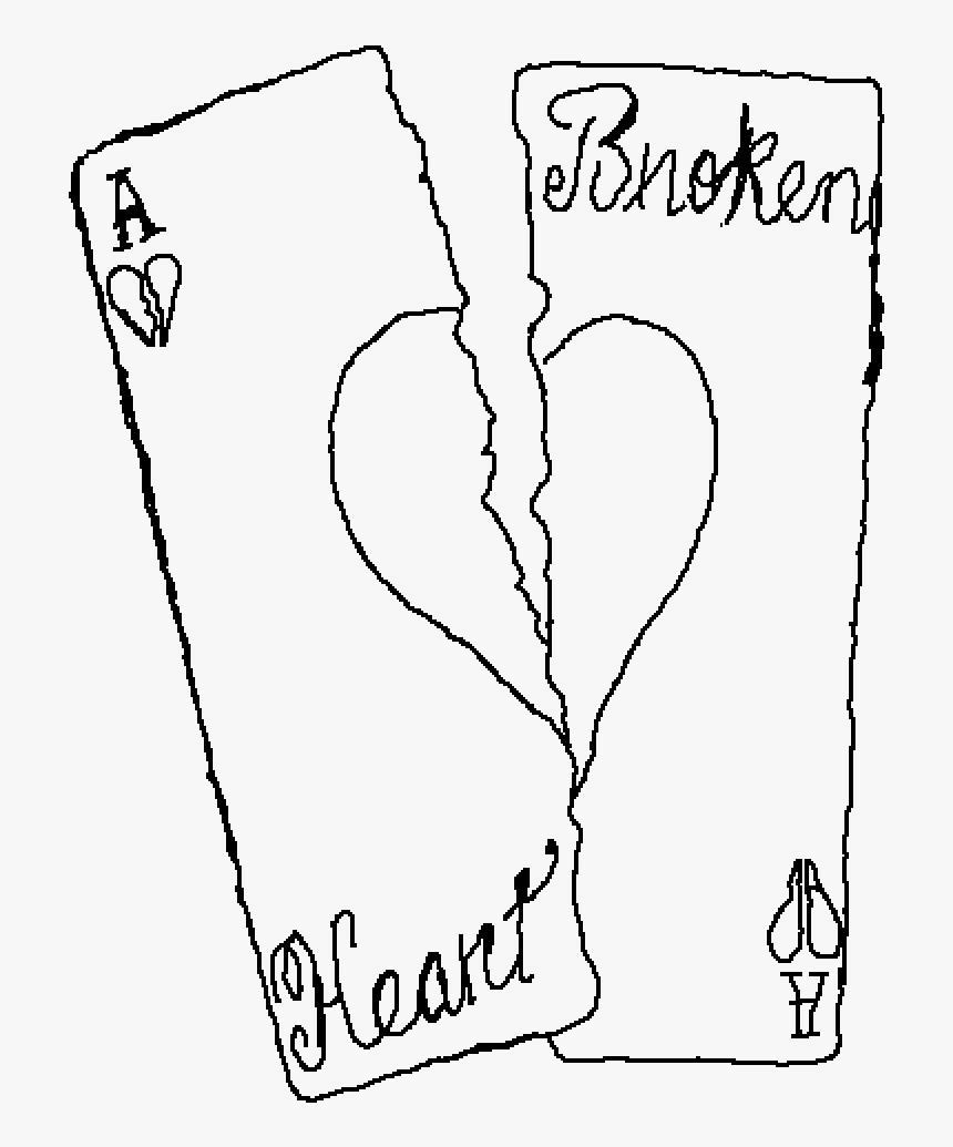 Arts Drawing Broken Heart - Line Art, HD Png Download, Free Download