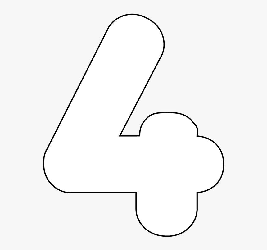 Transparent Digital Numbers Png - Printable Number 4, Png Download, Free Download