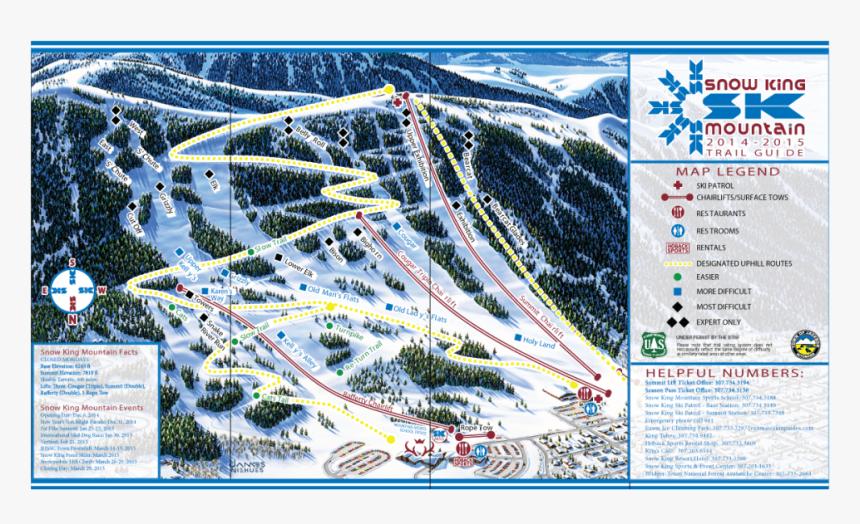 Snow King Trail Map - Jackson Hole Ski Resort, HD Png Download, Free Download