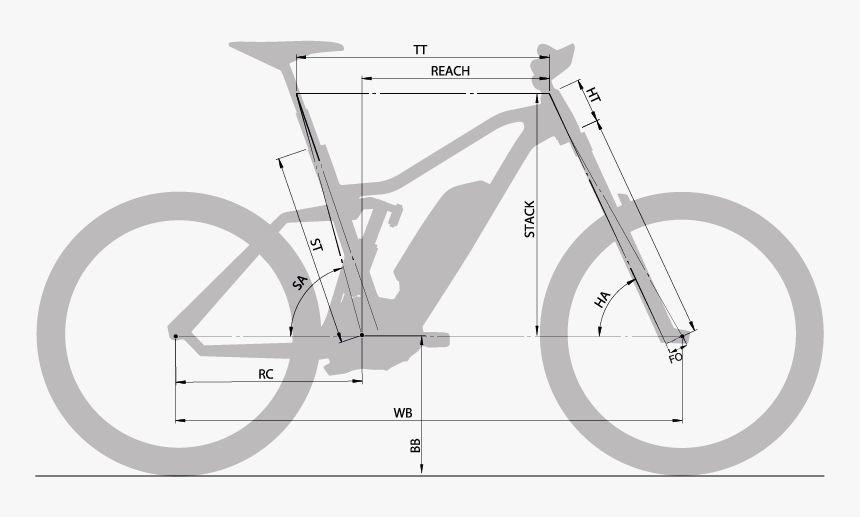 Moustache Downhill Electric Bike Sizing - Fahrrad Ghost, HD Png Download, Free Download