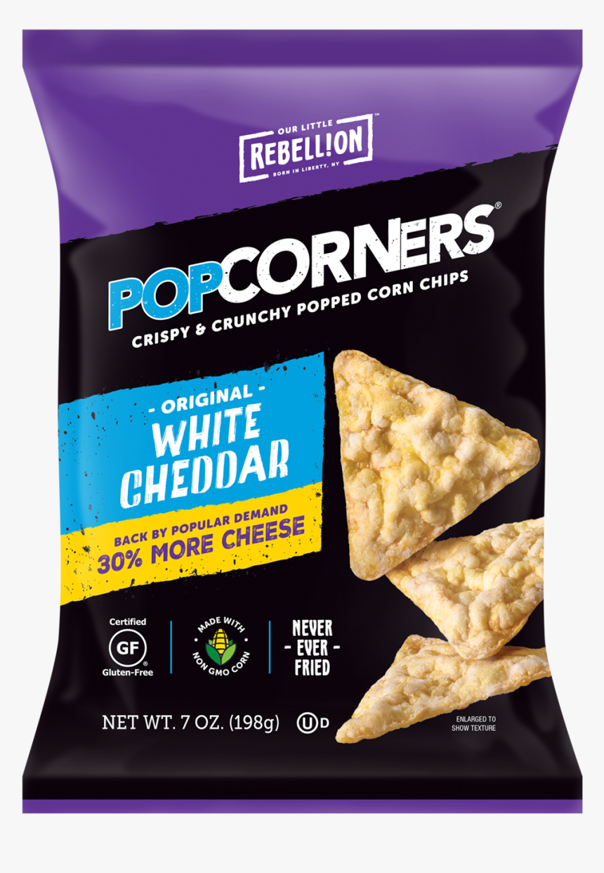 """Popcorners, White Cheddar, Large""""  Title=""""popcorners, - Popcorners Cinema Style Butter, HD Png Download, Free Download"""