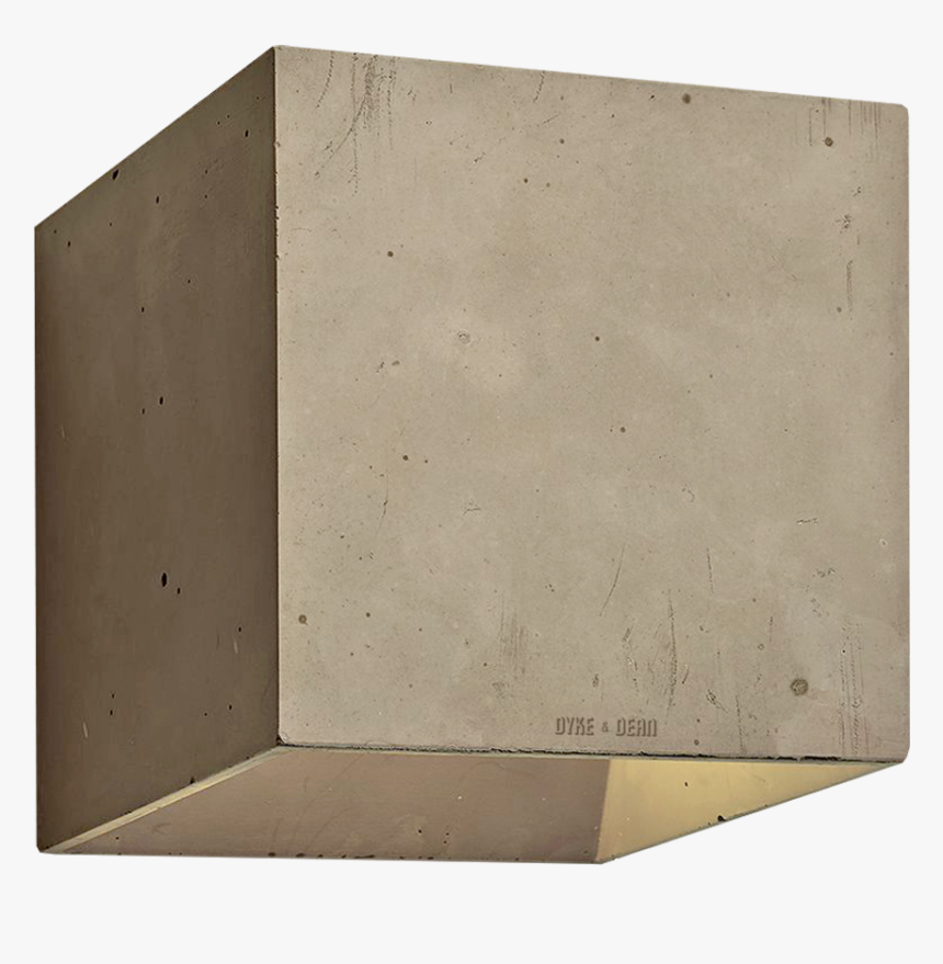 Concrete Wall Lamp Brown - Wood, HD Png Download, Free Download