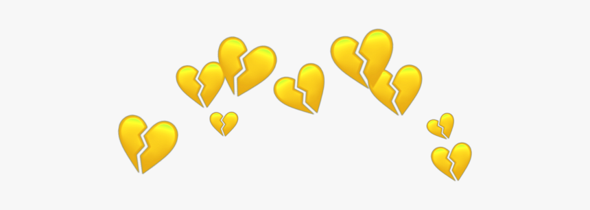 #crown #sticker #overlay #png #heart #yellow #aesthetic - Imágenes Tumblr De Color Amarillo, Transparent Png, Free Download