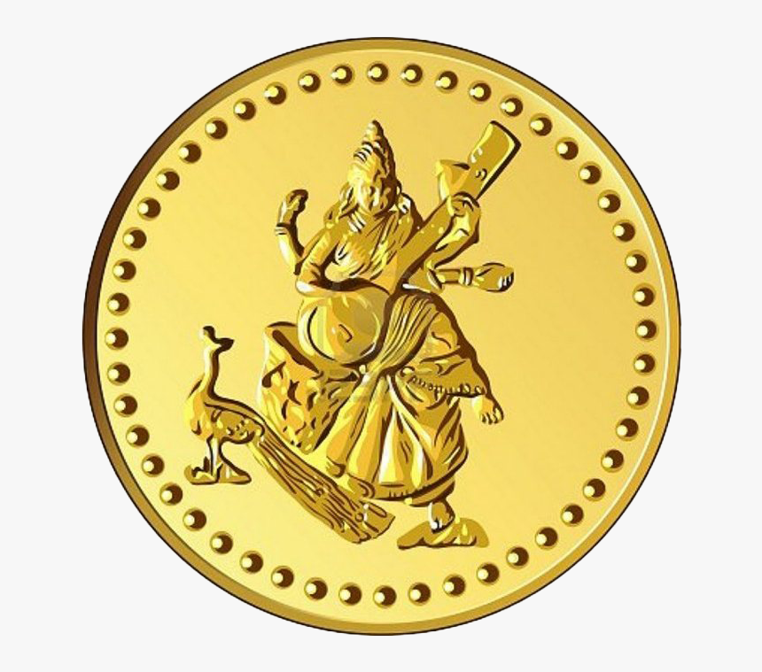 Empty Gold Coin Png Clipart - Lakshmi Gold Coin Png, Transparent Png, Free Download