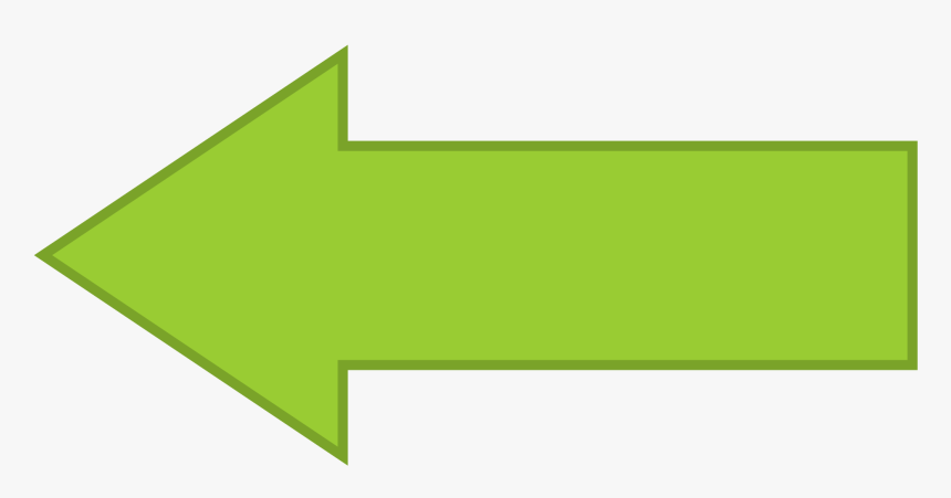 Left Facing Arrow Png Library Download File - Green Arrow Pointing Left, Transparent Png, Free Download