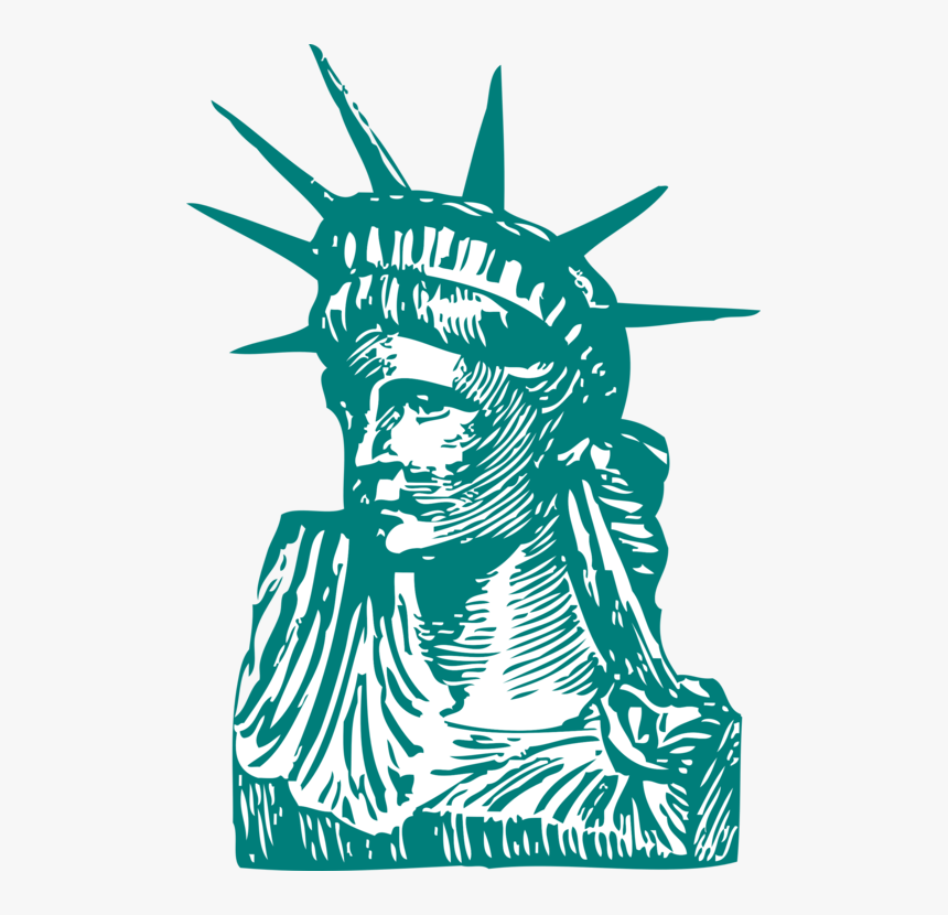 Statue Of Liberty, Liberty, Statue, New York, Manhattan - Statue Of Liberty Illustration, HD Png Download, Free Download