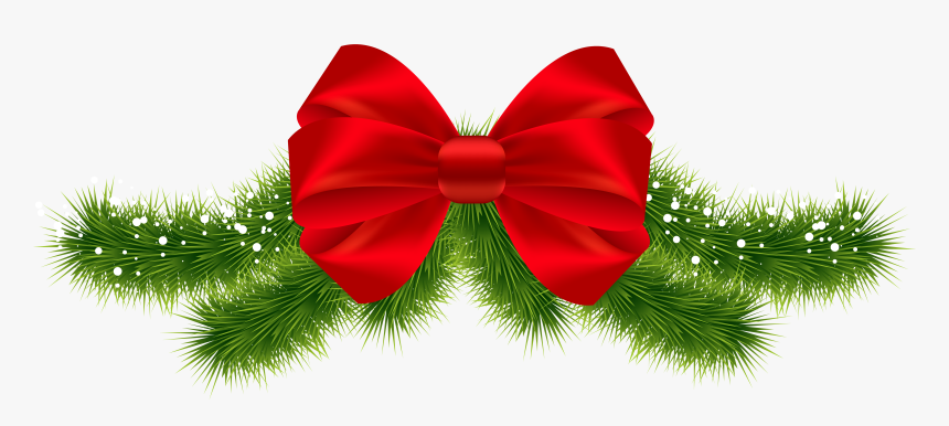 Transparent Bow Png Transparent - Green Christmas Bow Png, Png Download, Free Download