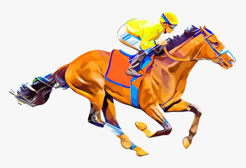 #horse #racing #horseracing #jockey #freetoedit - Horse Racing Vector Png, Transparent Png, Free Download