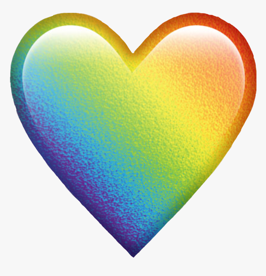 Rainbow Colorful Colors Emoji Heart Emojiheart Freetoed - Transparent Background Rainbow Heart Emoji Png, Png Download, Free Download