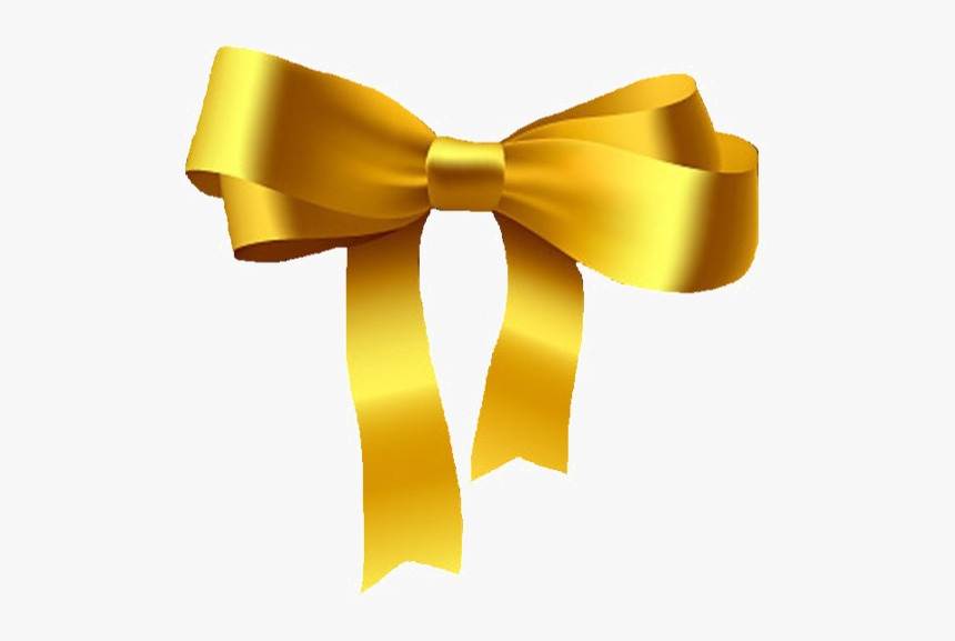 Golden Ribbon Png Pic - Gold Ribbon Png, Transparent Png, Free Download