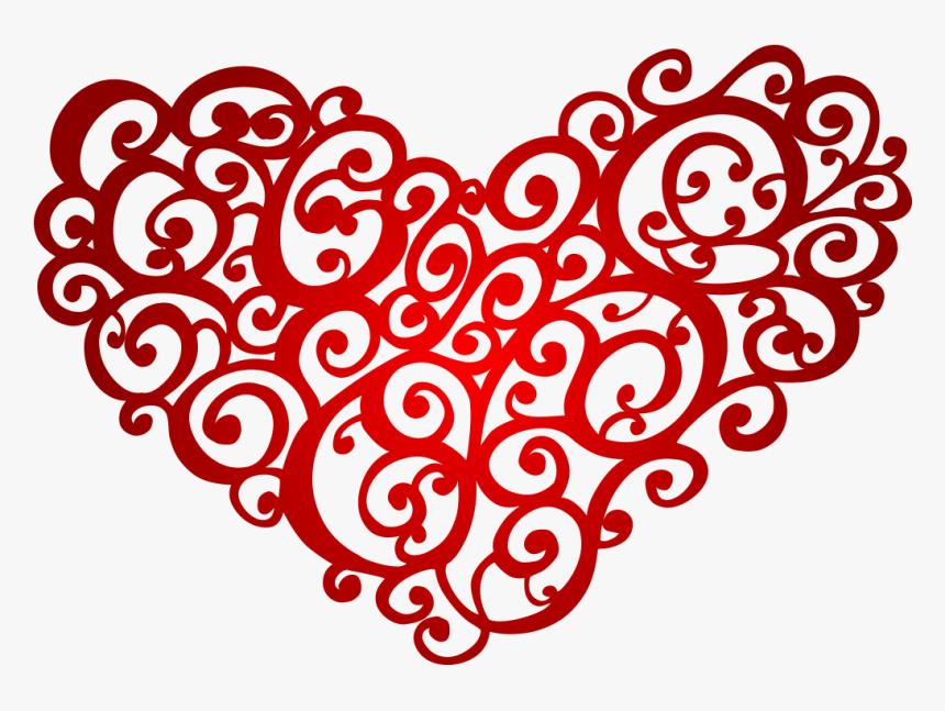 Floral Heart Png Transparent - Red Floral Vectors Png, Png Download, Free Download