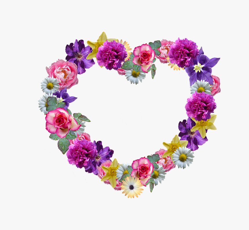 """Flowers, Heart, Mother""""s Day, Floral Wreath, Greeting - Wednesday Flowers Hd, HD Png Download, Free Download"""