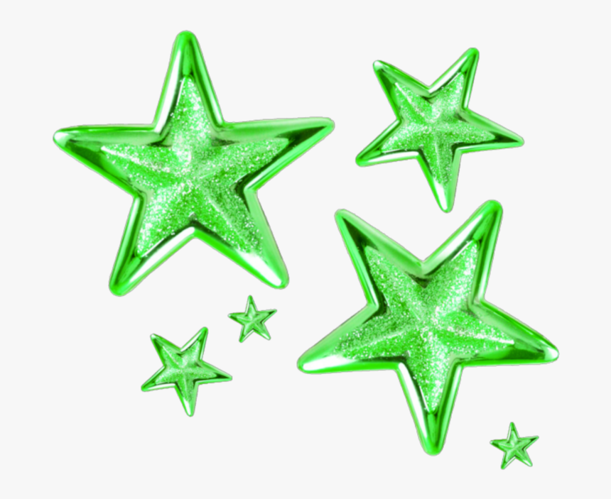 Transparent Green Star Png - Transparent Background Gold Stars Png, Png Download, Free Download