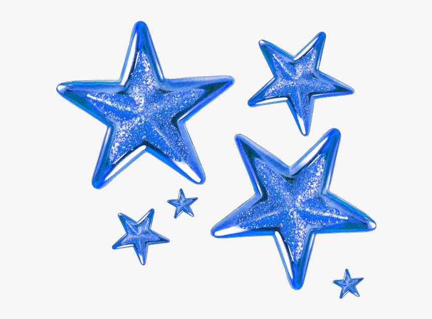 #blue #star #stars - Transparent Background Gold Stars Png, Png Download, Free Download