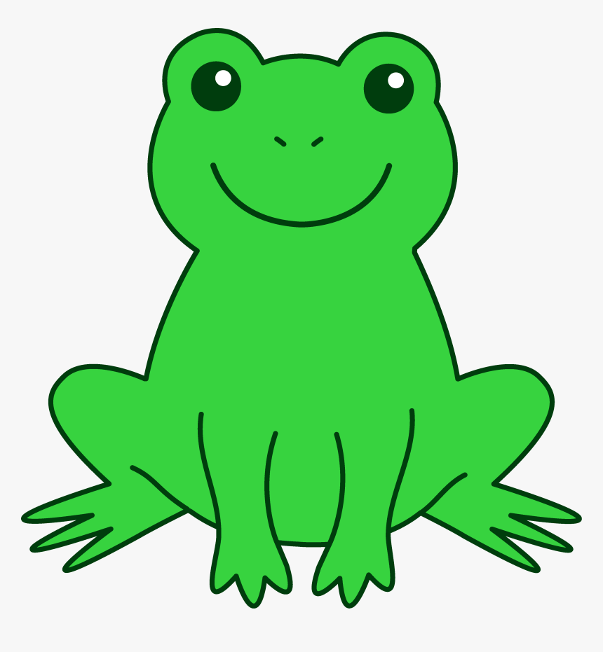 Green Frog Clipart - Animated Picture Of Frog, HD Png Download, Free Download