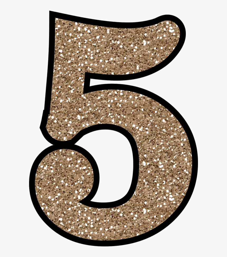Glitter Number 5, HD Png Download, Free Download